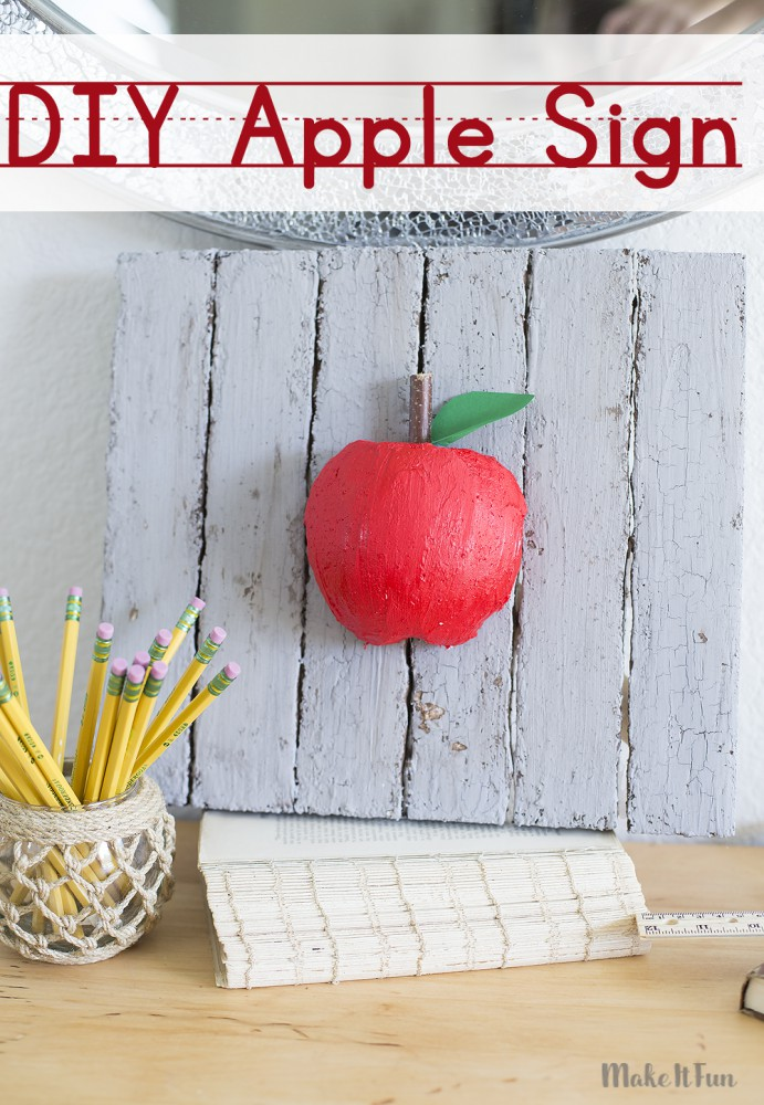 Easy DIY Apple Sign