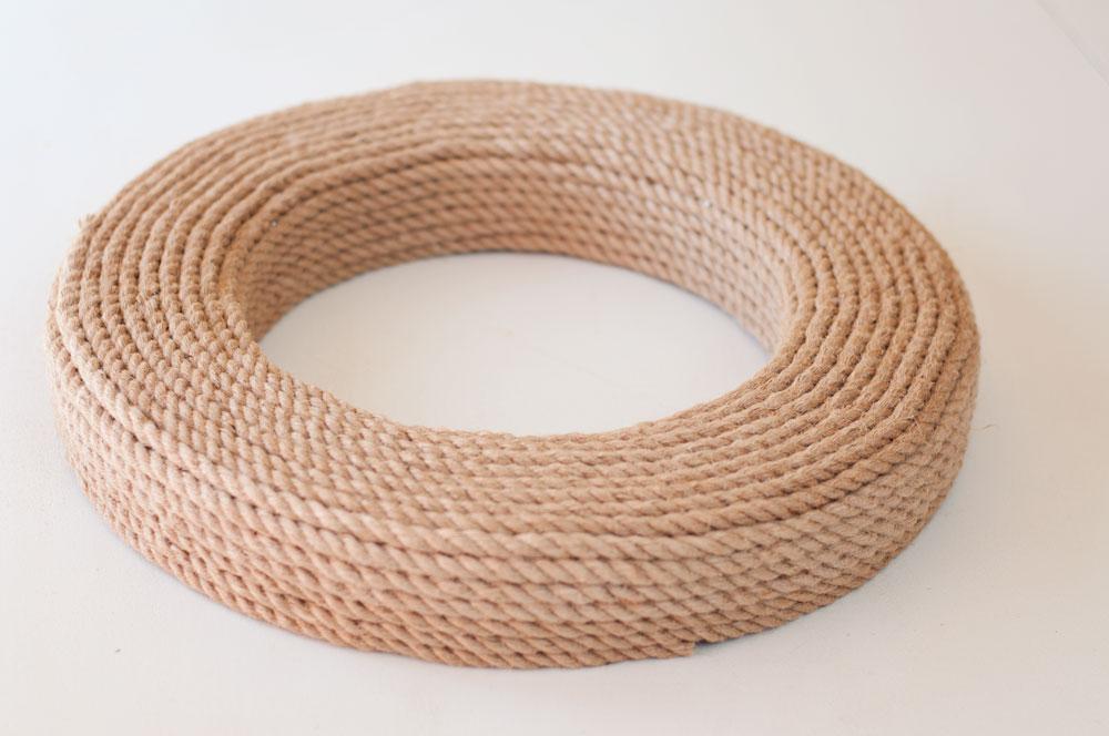 Simple DIY Nautical Rope Mirror Craft