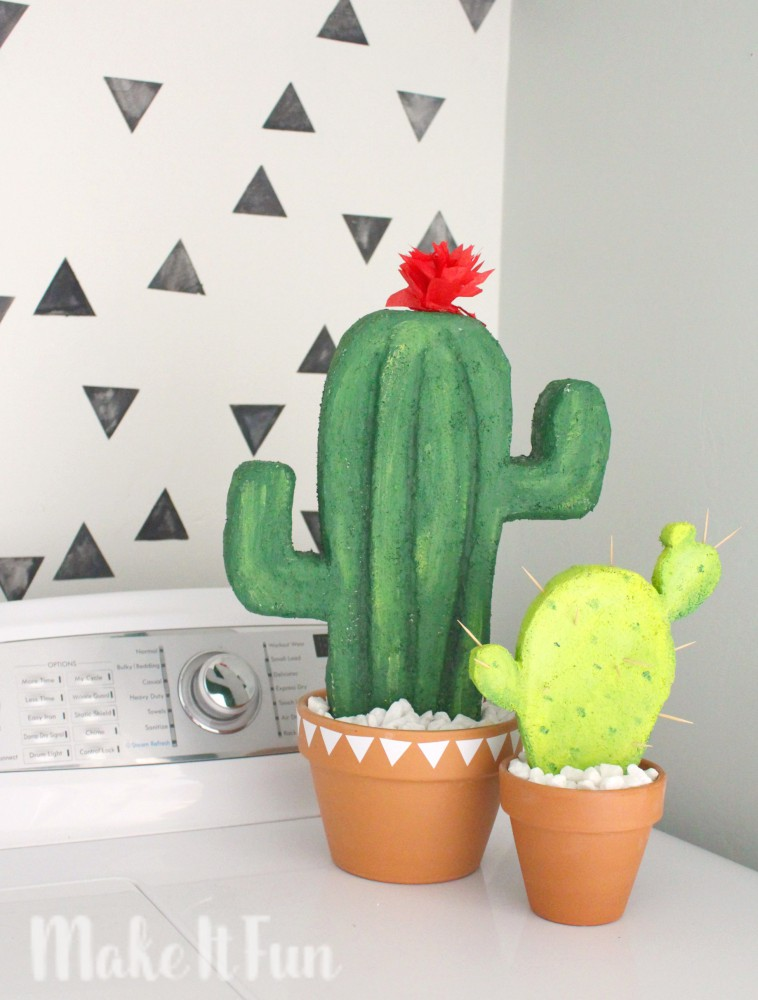 diy cactus d cor make it fun blog. Black Bedroom Furniture Sets. Home Design Ideas