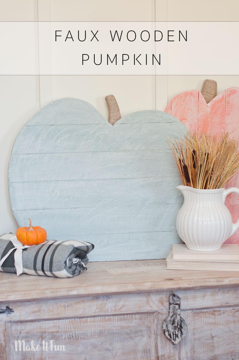 Faux Wooden Pumpkin Craft