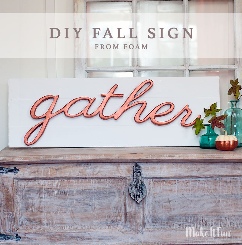 "DIY Faux Pallet ""Gather"" Sign for Fall"