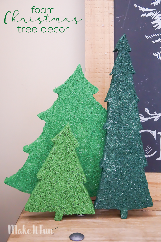 Foam Christmas Tree Decor
