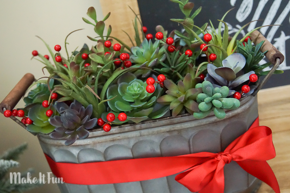 Succulant and Berry Centerpiece