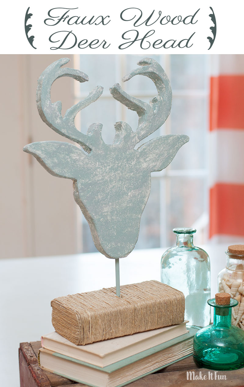 Faux Wood Deer Head Craft