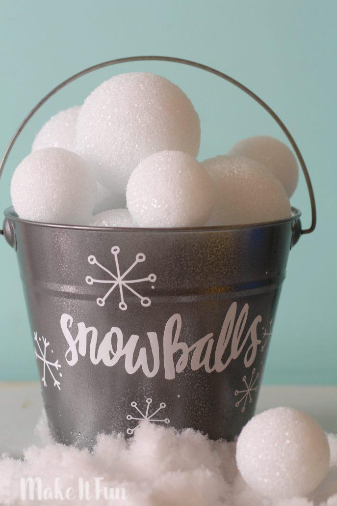 Snowball Bucket Games A Girl And A Glue Gun