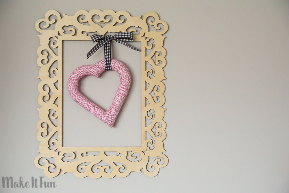 Bakers Twine Heart Decoration