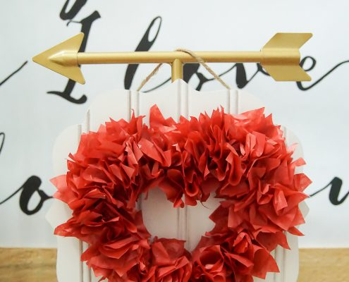 Tissue Paper Heart Decoration