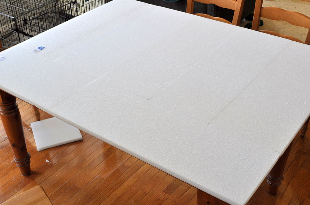 Mounting a Tapestry with Foam | Make It Fun Blog