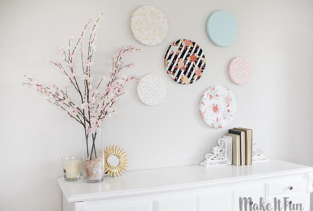 Diy Fabric Wall Art Pinterest : Make it fun diy fabric wall art