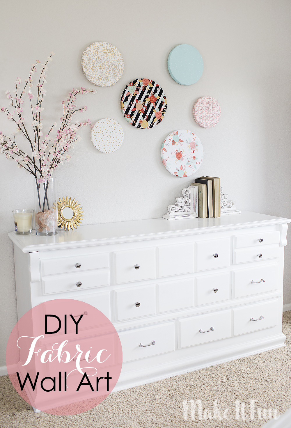 Diy Wall Art Fabric : Make it fun diy fabric wall art