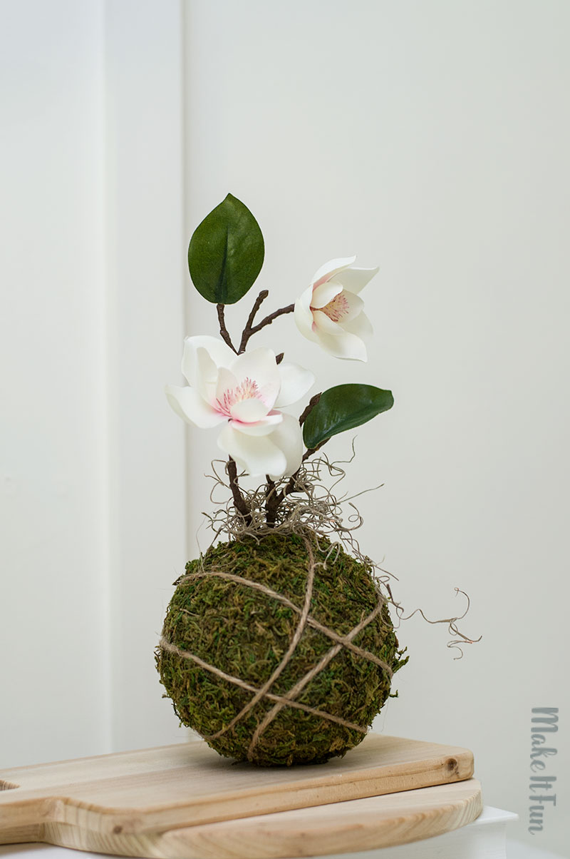 How to make a Faux Kokedama Craft