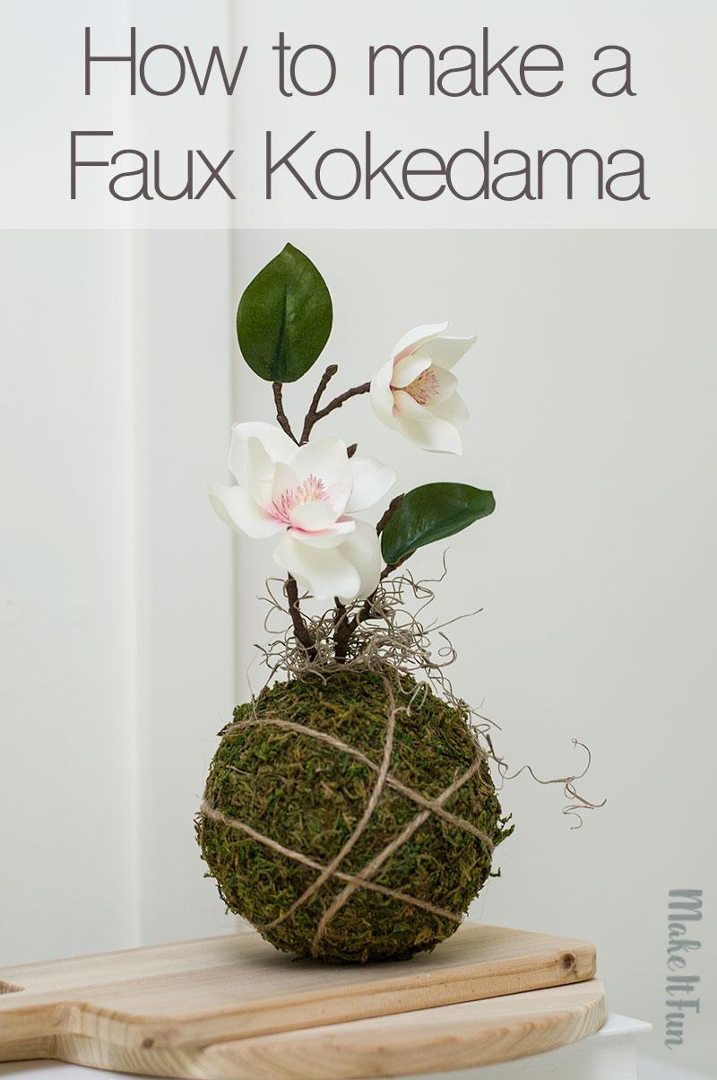 How to make a Faux Kokedama Craft