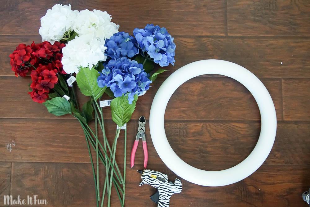 Patriotic Wreath Supplies